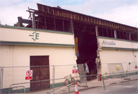 photo of The Arcadia during demolition