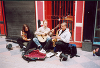 photo of musicians busking