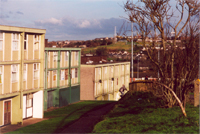 photo of the Glen Flats before demolition